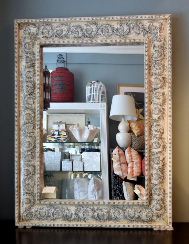 Ivory Bone Inlaid Mirror