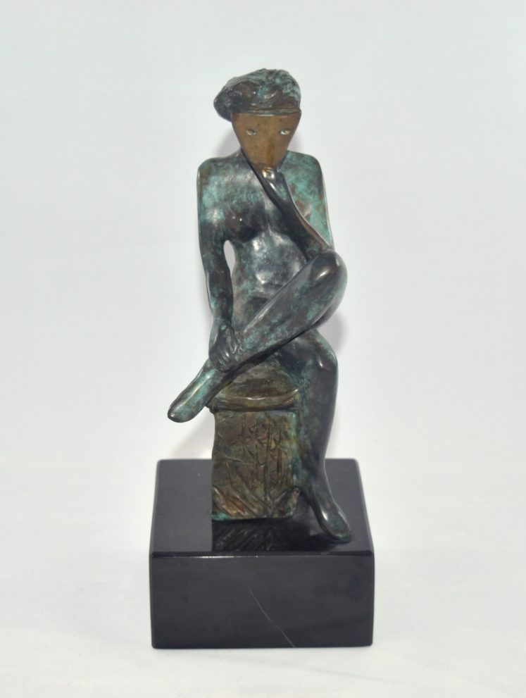 """Sister of Mystery"" Bronze Sculpture"