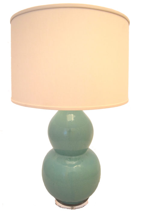 Turquoise Glazed Porcelain Double Gourd Lamp