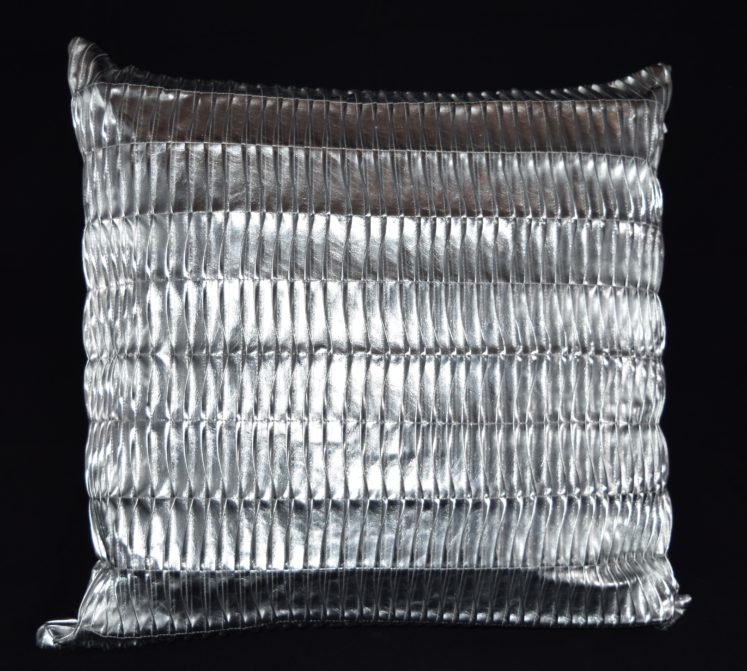 Silver Metallic Pillow