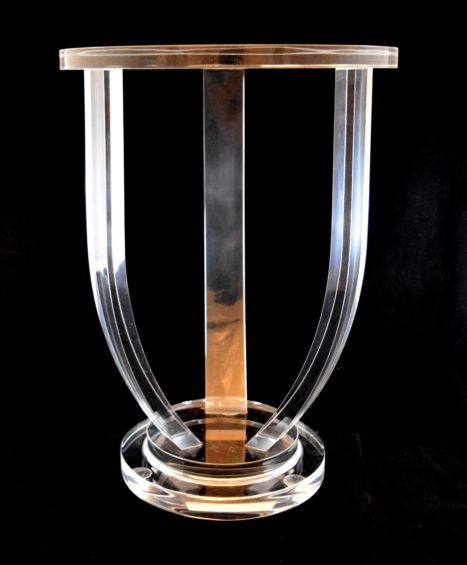 Lila Lucite Side Table